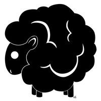 Black Sheep-don't like the white swirls in there