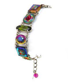 Firefly Fair Trade Jewelry Ruby La Dolce Vita Crystal Bracelet 3036-Ruby Fashion Jewellery