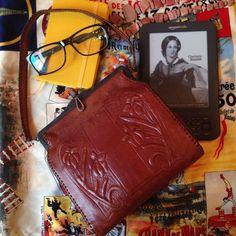 Купить Сумка кожаная с тиснением Арт Деко 1917 г - винтажная сумка, сумочка