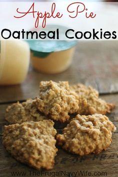 Apple Cookies – Apple Pie Oatmeal Cookie Recipe