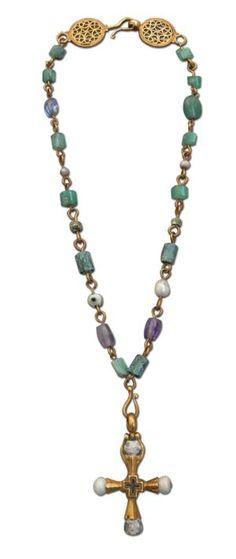 Byzantine necklace ... www.langantiques....