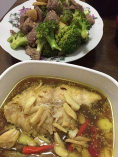 Nonya Acar fish, Beef broccoli