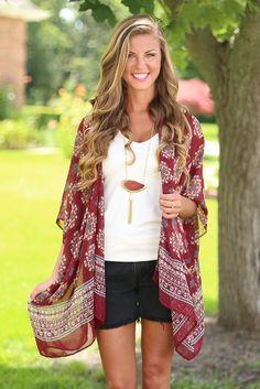 Wine O'Clock Kimono