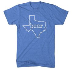 Unisex Beer. Texas T-Shirt - Blue Medium - XXLArge