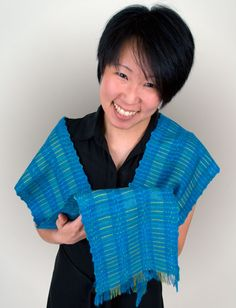 Woven with two heddles on a rigid heddle loom