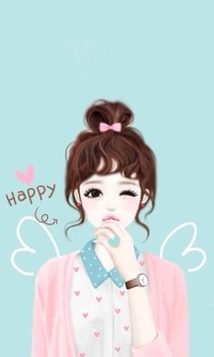 Shared by Quỳnh Hương. Find images and videos about girl, cute and pink on We Heart It - the app to get lost in what you love. Cartoon Girl Images, Cute Cartoon Girl, Korean Illustration, Cute Illustration, Illustration Mignonne, Girly M, Lovely Girl Image, Anime Lindo, Cute Girl Drawing