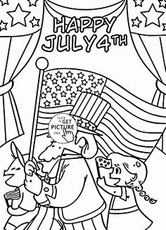 Excellent July 4th Coloring Page For Kids Pages Printables Free