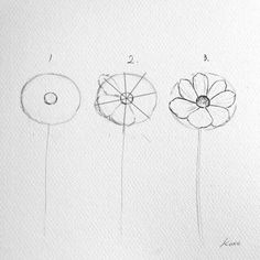 Artist Reveals the Simple Steps to Drawing Perfect Flowers Drawing Tips flower drawing Easy Flower Drawings, Flower Art Drawing, Flower Drawing Tutorials, Flower Sketches, Easy Drawings, Art Tutorials, Painting & Drawing, Easy Sketches, Drawing Drawing