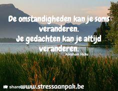 Hoe kan je best omgaan met stress? Workshops en individuele begeleiding bij StressAanpak: www.stressaanpak.be