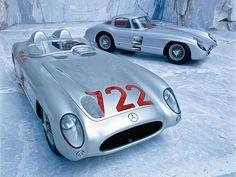 CMC 1955 Mercedes-Benz 300 SLR - Mille Miglia #722 diecast car
