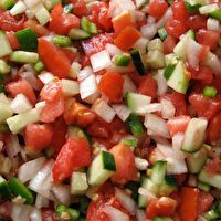 Tomato-Cucumber Salsa - I added onion and a couple of chopped jalapenos to the recipe for some kick (the pic seems to have them, though the recipe doesn't).  It was delicious and I can't wait to make it with produce fresh from my garden this summer!