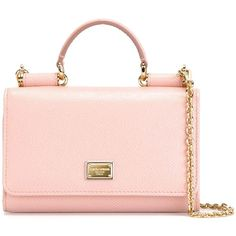 Dolce & Gabbana mini 'Von' wallet crossbody bag (€600) ❤ liked on Polyvore featuring bags, handbags, shoulder bags, crossbody purse, mini crossbody handbags, mini shoulder bag, pink purse and crossbody handbags