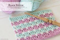 """Learn how to crochet the simple yet colourful Block Stitch in minutes with this easy video tutorial! The stitch is perfect even for crochet newbies."""