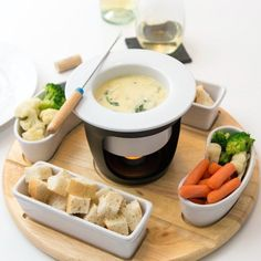 Fondue might be your best for a holiday party or get-together. It will add a retro appeal to the celebration and it is quick and easy to prepare. If you have a fondue set at home it is time to dig it out of the back of the cupboard. Don't worry if you don't have one. The following recipes will prove that you don't necessarily need one. Use a crock pot, a cast iron skillet or simply place a a medium ramekin on a metal rack above a tea light. The oozing, warm cheese is perfect on cold evenings…