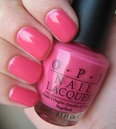 OPI Strawberry Margarita - This is like the exact color I want for Pink Week.