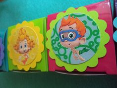 12 Bubble Guppies Birthday Party Favor Boxes - Perfect for candy and bottlecap necklaces - You choose the theme on Etsy, $9.00