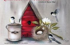 Karyne Viger Paint Techniques, Kaftan, Decoupage, Stencils, Birds, France, Painting, Painting On Fabric, Licence Plates