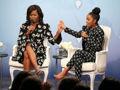 Michele Obama Chats About Girls Education