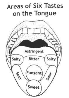 Ayurveda – 6 Tastes of Tongue Chart