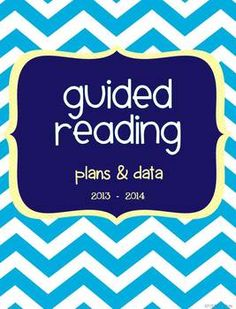 Guided Reading Plan & Data Book