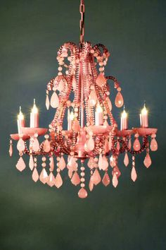 The Stylish Chandelier - Lustre 6 branches Marie Therese, cristal rose crème Chandelier Bougie, Pink Chandelier, Crystal Chandeliers, Vintage Chandelier, Hallway Chandelier, Lustre Vintage, Vintage Pink, Deco Rose, Home Decoracion