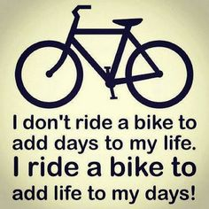 Why ride #bicycles