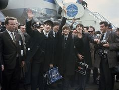 The Beatles arrive at Kennedy Airport. 1964: The World 50 Years Ago - In Focus - The Atlantic