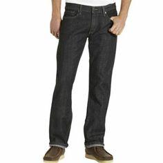 black  Levi's 514 Straight Jeans - Men
