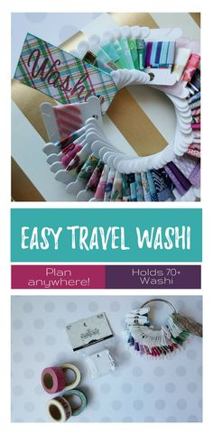 Travel washi ring - take all of your washi with you everywhere you go without the bulk. No more limit on what you can plan outside of the home! Fun Crafts To Do, Easy Diy Crafts, Diy Craft Projects, Craft Tutorials, Crafts For Kids, Arts And Crafts, Tape Crafts, Vinyl Crafts, Happy Planner