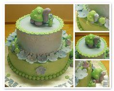 Turtle Baby Shower Cake by CupcakePantry/CupCakeBite, via Flickr