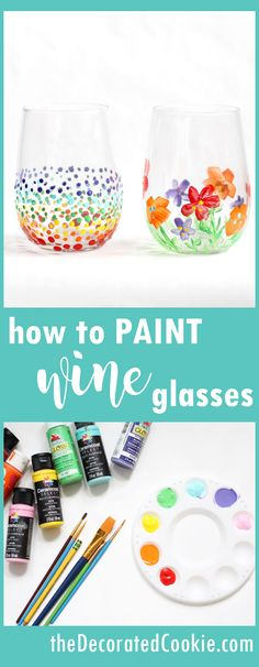 how to paint on wine glasses -- video how-tos plus a roundup of ideas