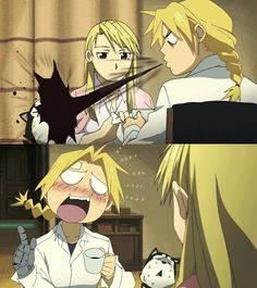 Image result for fullmetal alchemist brotherhood hawkeye dog