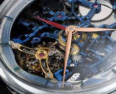 """H. Moser & Cie. Venturer Tourbillon Dual Time Sapphire Blue Skeleton Watch - by Kenny Yeo - See more at: aBlogtoWatch.com """"The market for new watches has slowed considerably, and brands are furiously looking at ways to engage new customers mainly by releasing more accessible and more value-for-money new watches. That said, there are some who are still willing to take risks. After all, some of the ultra-rich still need to get their watch kicks, right? If money is no object to you..."""""""