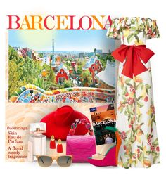 """""""Trip to Barcelona"""" by bb60477 ❤ liked on Polyvore featuring Gucci, Lonely Planet, Isolda, Lizzie Fortunato, Balenciaga, Nancy Gonzalez, Balmain and Etnia Barcelona"""