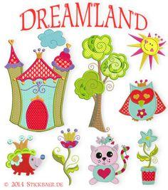 Traumland Zauberhafte Stickdateien Sweet embroideries