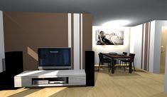 Wohnzimmer Wandgestaltung Streichen