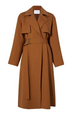Michelle Waugh's 'Carina' belted gabardine trench is designed with a notch lapel and falls just past the knees in a sleek design. Trench Coat Outfit, Coat Dress, Cute Outfits For Kids, Cool Outfits, Suit Fashion, Fashion Outfits, Korean Girl Fashion, Vogue, Outerwear Women
