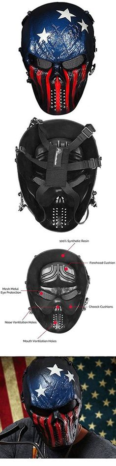 Clothing and Protective Gear 159044: Full Hunting Face Airsoft Mask With Metal Mesh Eye Protection -> BUY IT NOW ONLY: $38.71 on eBay!