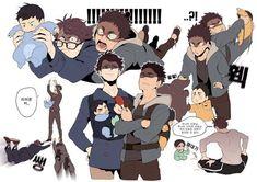 Haikyuu Manga, Manga Anime, Haikyuu Kageyama, Haikyuu Funny, Haikyuu Fanart, Anime Guys, Iwaoi, Kuroken, Kagehina
