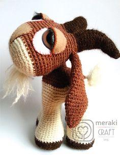 Hopscotch the Goat amigurumi crochet pattern by Meraki Craft Inc. Animal Knitting Patterns, Crochet Toys Patterns, Amigurumi Patterns, Crochet Crafts, Crochet Projects, Amigurumi Toys, Hopscotch, Crochet Animals, Crochet Baby