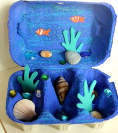 Cool DIY Egg Carton Crafts cool crafts for kids diy - Kids Crafts Beach Crafts For Kids, Summer Crafts, Toddler Crafts, Diy For Kids, Kids Crafts, Arts And Crafts, Beach Kids, Under The Sea Crafts, Recycled Crafts Kids