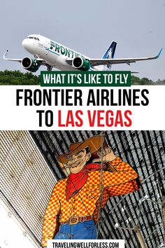 I took a chance and flew Frontier Airlines to Las Vegas for $38 roundtrip. Was it worth the gamble? Read my Frontier Airlines flight review to see if you should fly this discount carrier. #vegas #frontierairlines #lasvegas #budgettravel #flightreview #sincity