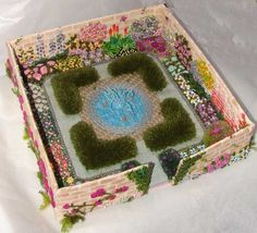 WOW!  spectacular embroidered walled garden