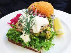 Ein typisches Smørrebrød hatte ich bei einem Lunch nach einer exzessiven Shoppingtour in Stockholm