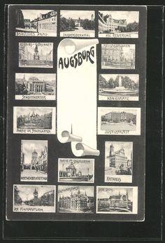 more views Augsburg | old Postcards