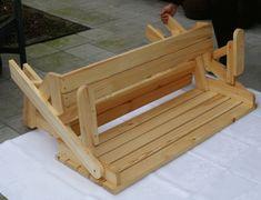 BATIKO ist die Gartentisch-Gartenbank-Kombination aus Naturholz geölt - Gartenmöbel mit Pfiff Folding Picnic Table Bench, Diy Picnic Table, Picnic Table Plans, Wooden Bench Plans, Woodworking Projects Diy, Porch Swing, Outdoor Furniture, Outdoor Decor, Projects To Try
