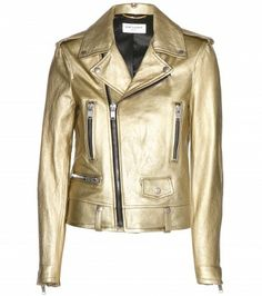 Saint Laurent - Metallic-Lederjacke - mytheresa.com GmbH