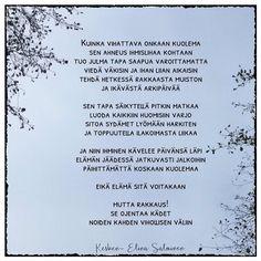 R.i.p.  Viimeisen viikon ajan kuolema on puhuttanut meitä suomalaisia tavallistakin enemmän. Kahden nuorehkon miehen kuolema saa vertaamaan… Carpe Diem Quotes, Grief, Memories, Instagram, Memoirs, Souvenirs, Remember This