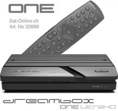 Dreambox one 4K UHD 2x DVB-S2X MIS 4k Uhd, Set Top Box, Smartphone, Usb, Apps, Computer, Remote, Wi Fi, Fan