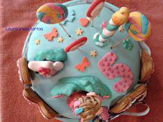 Vista aérea de la tarta de Emma, que cumplía cinco años.